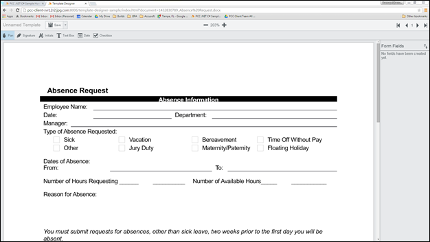 ESigning Overview – Absence Request Form