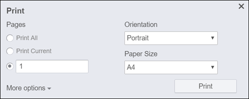 select the printing options that you need the first page of the document will print in portrait orientation using a4 paper size thats where we force the